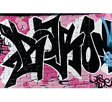 Abstract Graffiti Ornament on the Brick Wall Photographic Print