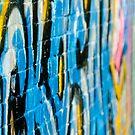 Abstract Graffiti Closeupon the textured Brick Wall by yurix