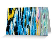 Abstract Graffiti Closeupon the textured Brick Wall Greeting Card