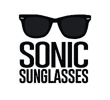 Sonic Sunglasses 2 Photographic Print