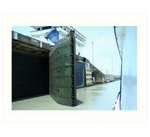 Miraflores Lock, Panama Canal. Art Print