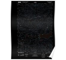 USGS Topo Map Oregon Sweet Home 20110908 TM Inverted Poster