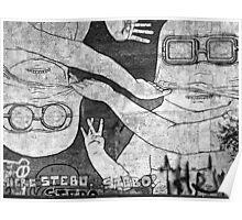 berlin graffiti Poster