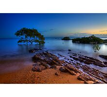 Sunrise at Hervey Bay beach Photographic Print