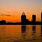 Mobile, Alabama Skyline silhouette by Tad Denson