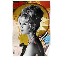 Golden Brigitte Bardot by Zabu Stewart Poster