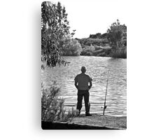 Waiting For The Fish To Bite Canvas Print