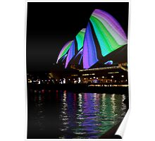 Sails Reflection - Vivid Sydney, 2011 Poster
