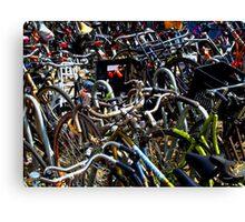 amsterdam bicycles Canvas Print