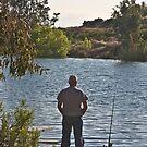 Sunset Fisherman by heatherfriedman