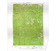 USGS Topo Map Oregon Roman Nose Mtn 282842 1942 62500 Poster