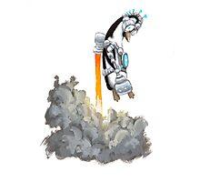 ROBOT PENGUIN Photographic Print