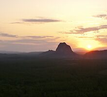 Sunset Over Glass House Mountains  by StupidBeagle