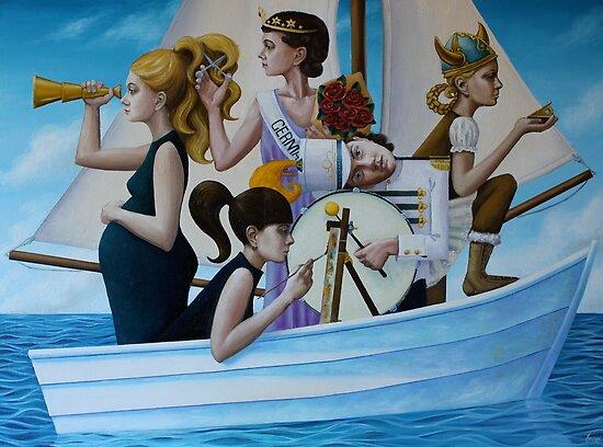 Boat People, oil on canvas, 2011 by fiona vermeeren