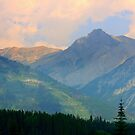 Pink Skies over the Rockies 2015 by Elfriede Fulda