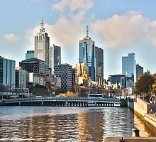 The smoggy city - Melbourne Aust by Emily Taylor