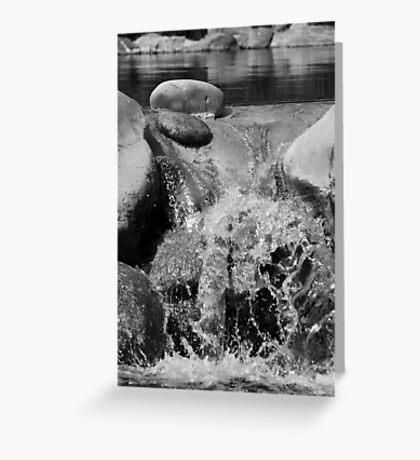 Small Scale Waterfall Greeting Card