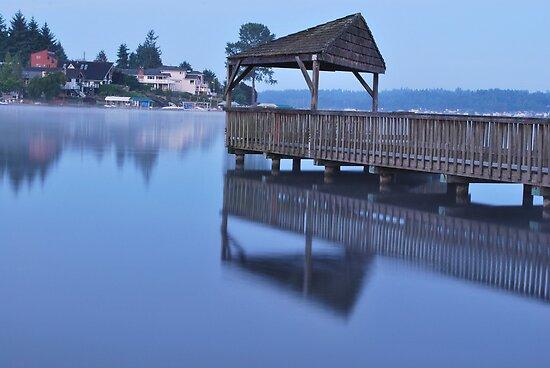 Morning Dock by Robert  Miner
