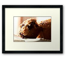 Muffin's wrong with blueberries Framed Print