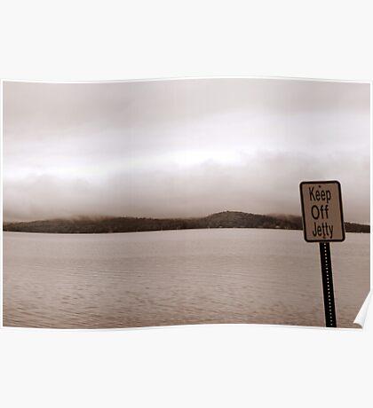 View from jetty on Winnipesaukee Poster