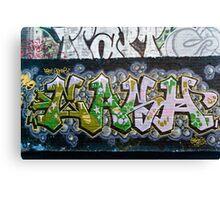 Grunge Graffiti Wall Canvas Print