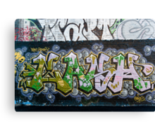 Grunge Graffiti Wall Canvas Print