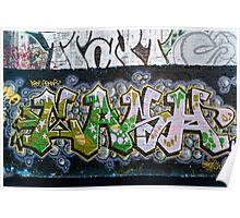 Grunge Graffiti Wall Poster