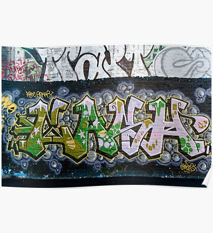 Grunge Graffiti Wall Poster