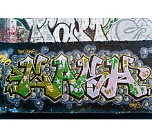 Grunge Graffiti Wall Photographic Print