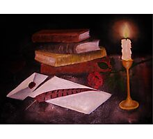 Anticipation by candle light Photographic Print
