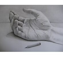 The hand that held the pencil.... Photographic Print