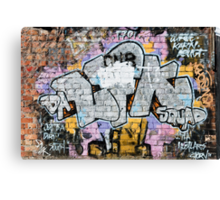 Grunge Fraffiti Wall. Canvas Print