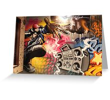hip hop graffiti Greeting Card