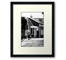 Walking in Edam Framed Print