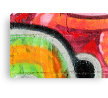 Textured Graffiti Closeup Canvas Print