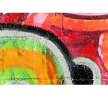 Textured Graffiti Closeup Photographic Print