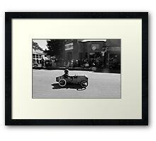 Billy cart boy Framed Print