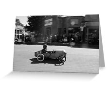 Billy cart boy Greeting Card