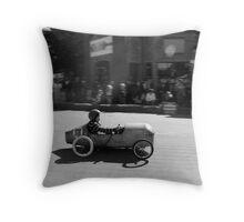 Billy cart boy Throw Pillow