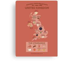 Regional Fried Breakfasts of the United Kingdom Canvas Print