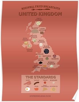 Regional Fried Breakfasts of the United Kingdom by Stephen Wildish