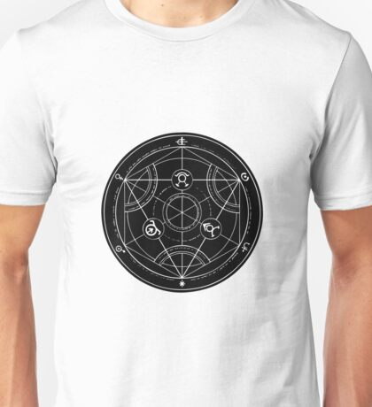 Black Alchemy Circle Unisex T-Shirt