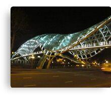 Peace Bridge: side view, Tbilisi, Georgia Canvas Print