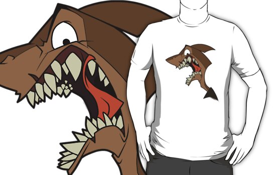 Angry brown shark by The Tundra Ghost