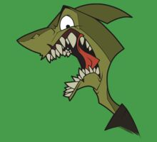 Angry green shark by The Tundra Ghost