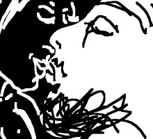 the kiss -(130611c2)- digital drawing/ms paint by paulramnora