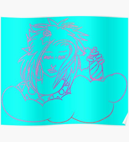 Retro-80s Hairspray Cloud Poster