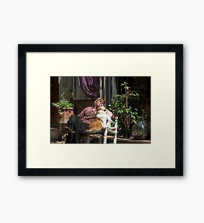 Street Love Framed Print