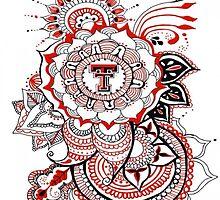 Texas Tech Mandala by Jordanowyly