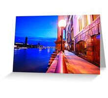 London Riverside at Night Greeting Card